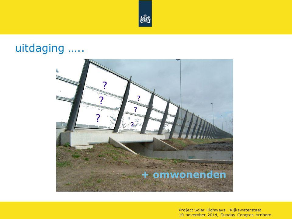 uitdaging ….. + omwonenden Project Solar Highways –Rijkswaterstaat