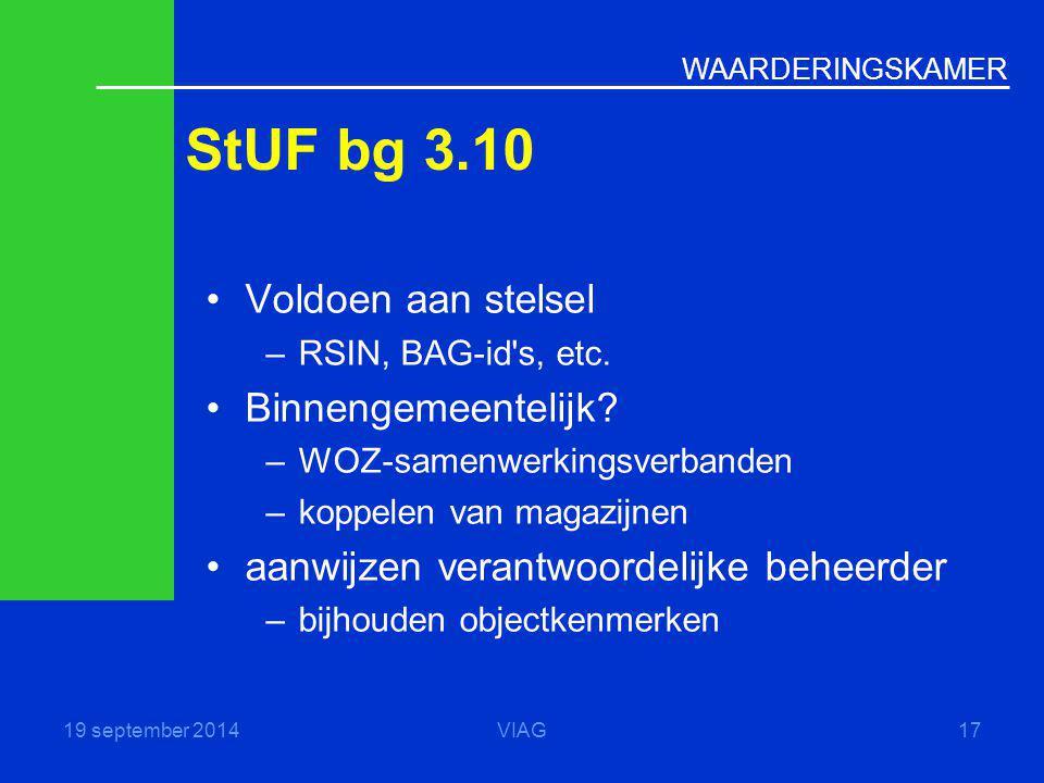StUF bg 3.10 Voldoen aan stelsel Binnengemeentelijk