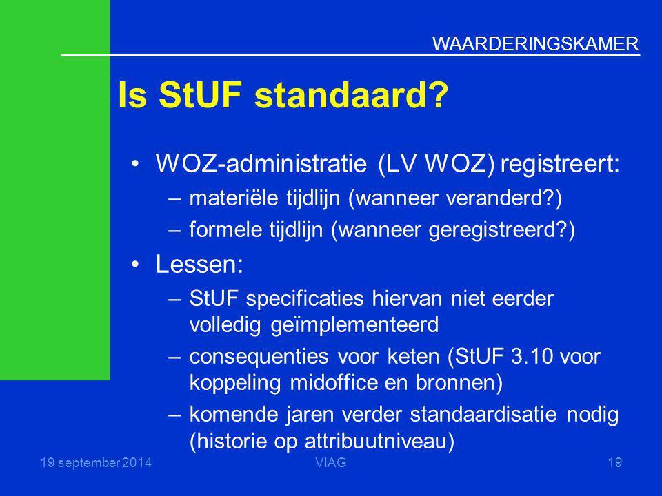 Is StUF standaard WOZ-administratie (LV WOZ) registreert: Lessen: