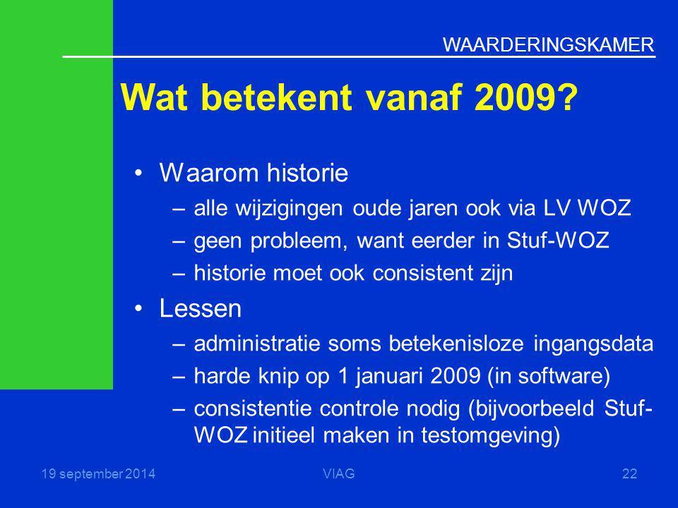 Wat betekent vanaf 2009 Waarom historie Lessen