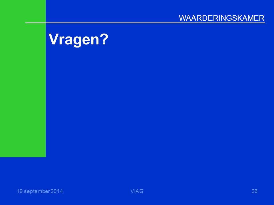 Vragen 19 september 2014 VIAG