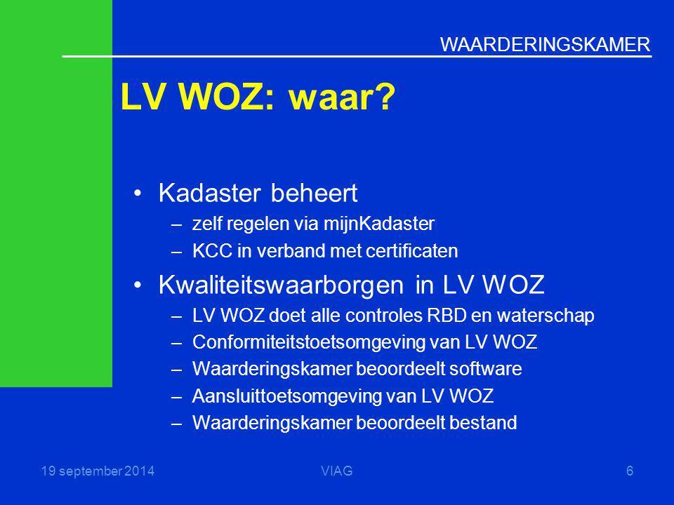 LV WOZ: waar Kadaster beheert Kwaliteitswaarborgen in LV WOZ