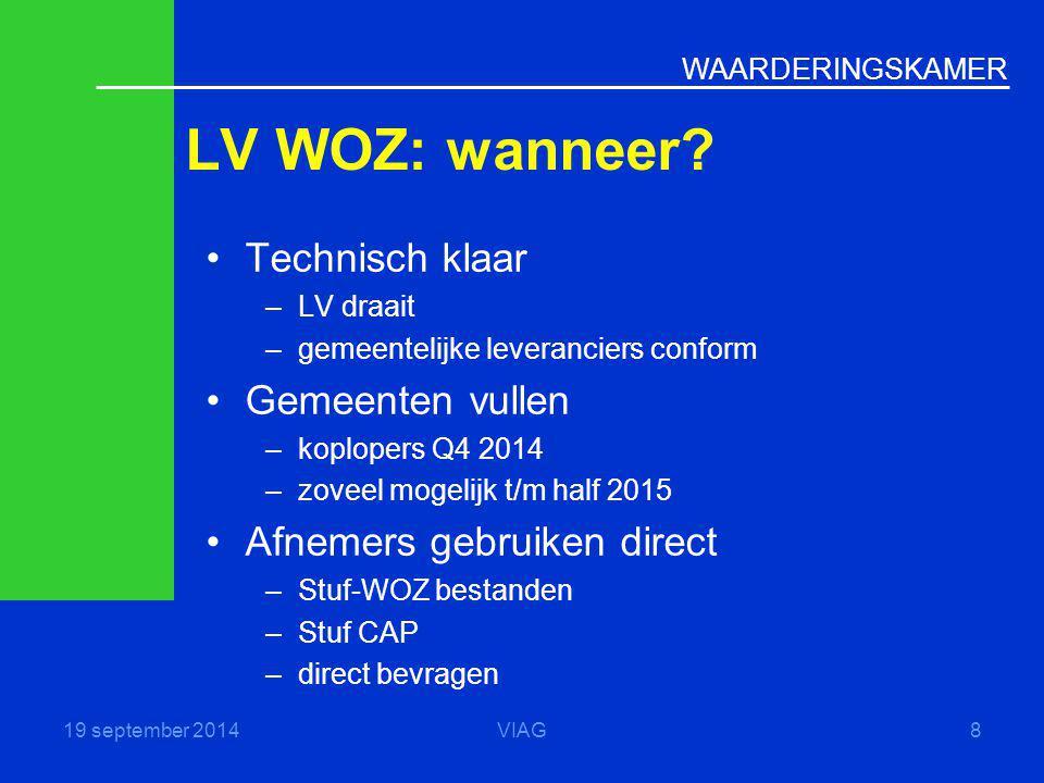 LV WOZ: wanneer Technisch klaar Gemeenten vullen