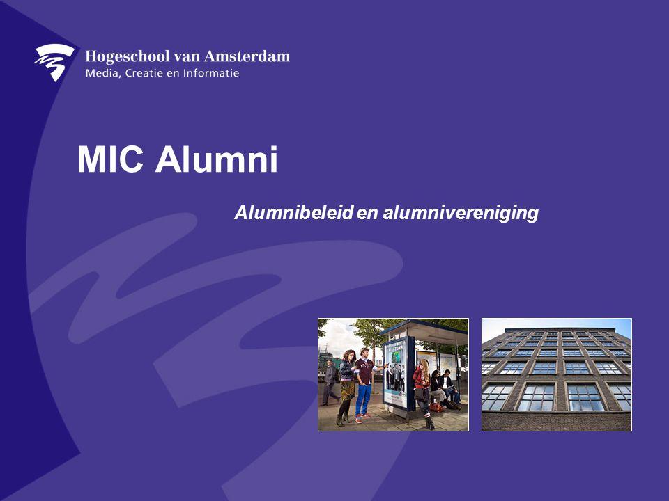 Alumnibeleid en alumnivereniging