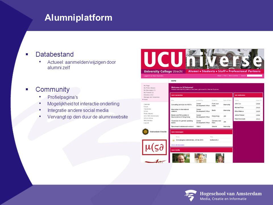 Alumniplatform Databestand Community