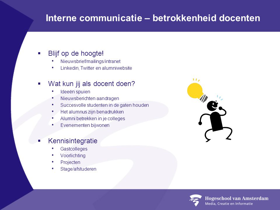 Interne communicatie – betrokkenheid docenten