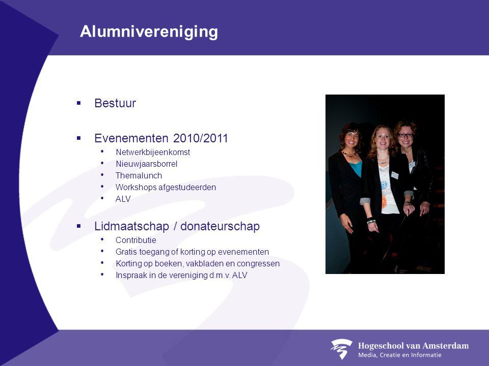 Alumnivereniging Bestuur Evenementen 2010/2011