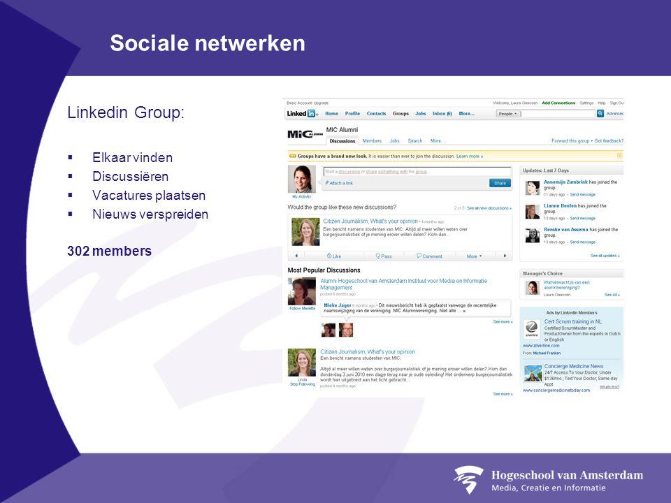 Sociale netwerken Linkedin Group: Elkaar vinden Discussiëren