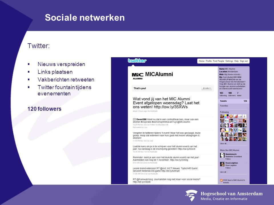 Sociale netwerken Twitter: Nieuws verspreiden Links plaatsen