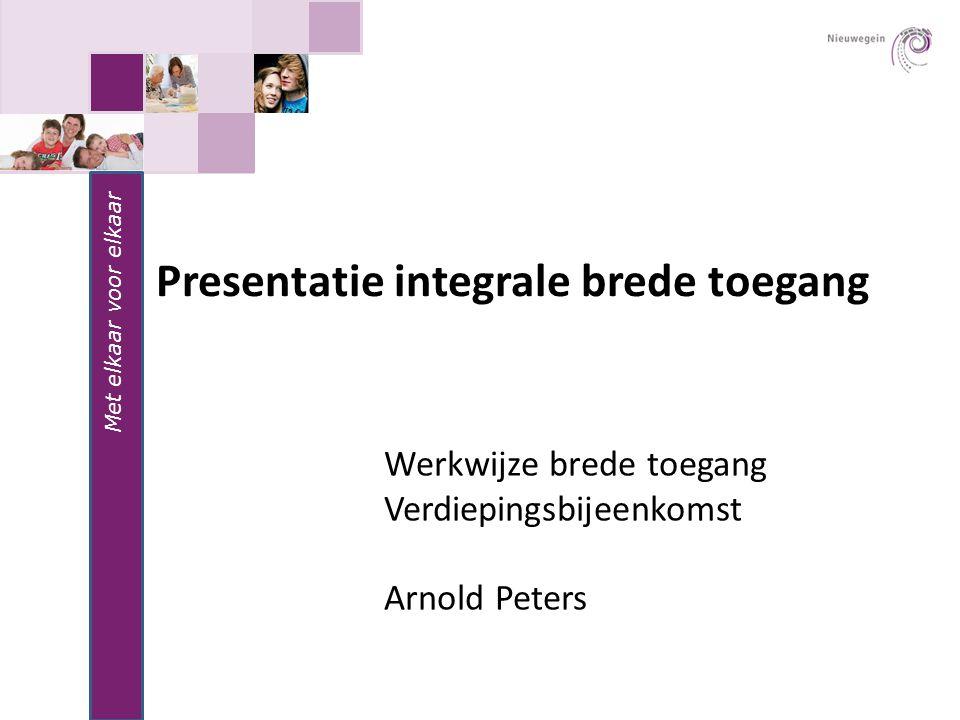 Presentatie integrale brede toegang
