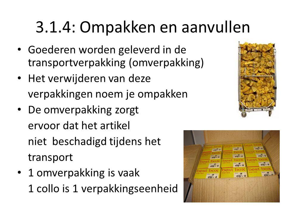 3.1.4: Ompakken en aanvullen