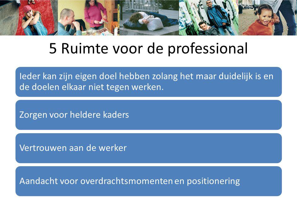 5 Ruimte voor de professional