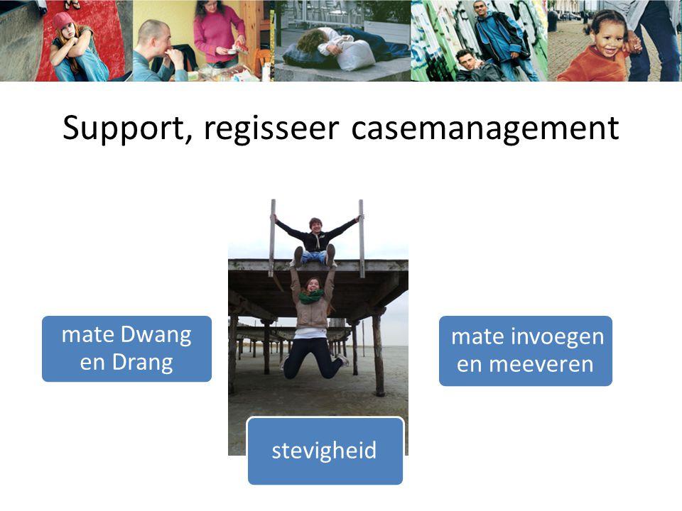 Support, regisseer casemanagement