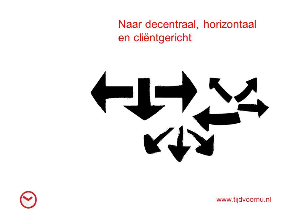 Naar decentraal, horizontaal en cliëntgericht