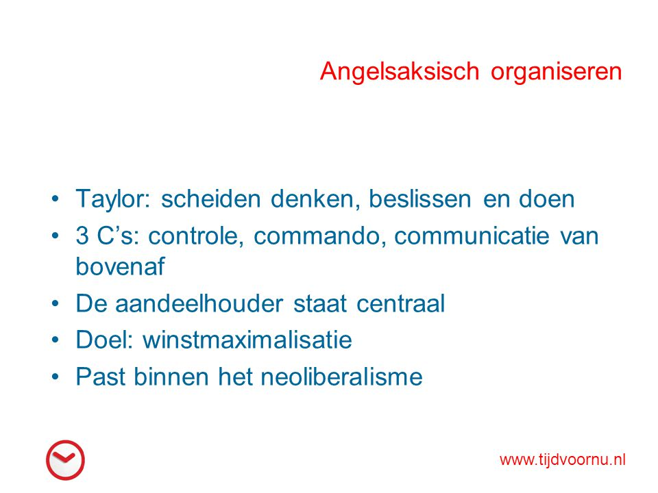 Angelsaksisch organiseren