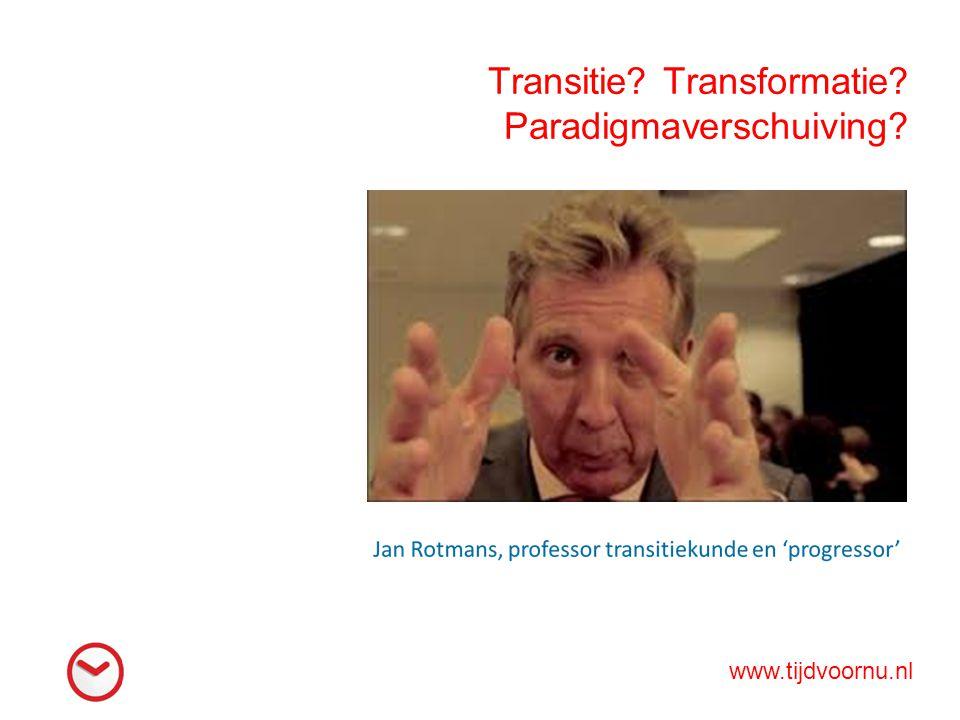 Transitie Transformatie Paradigmaverschuiving