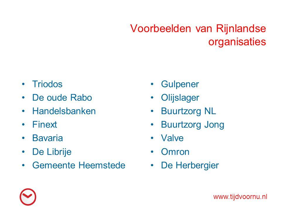 Voorbeelden van Rijnlandse organisaties