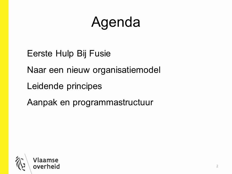 Agenda Eerste Hulp Bij Fusie Naar een nieuw organisatiemodel