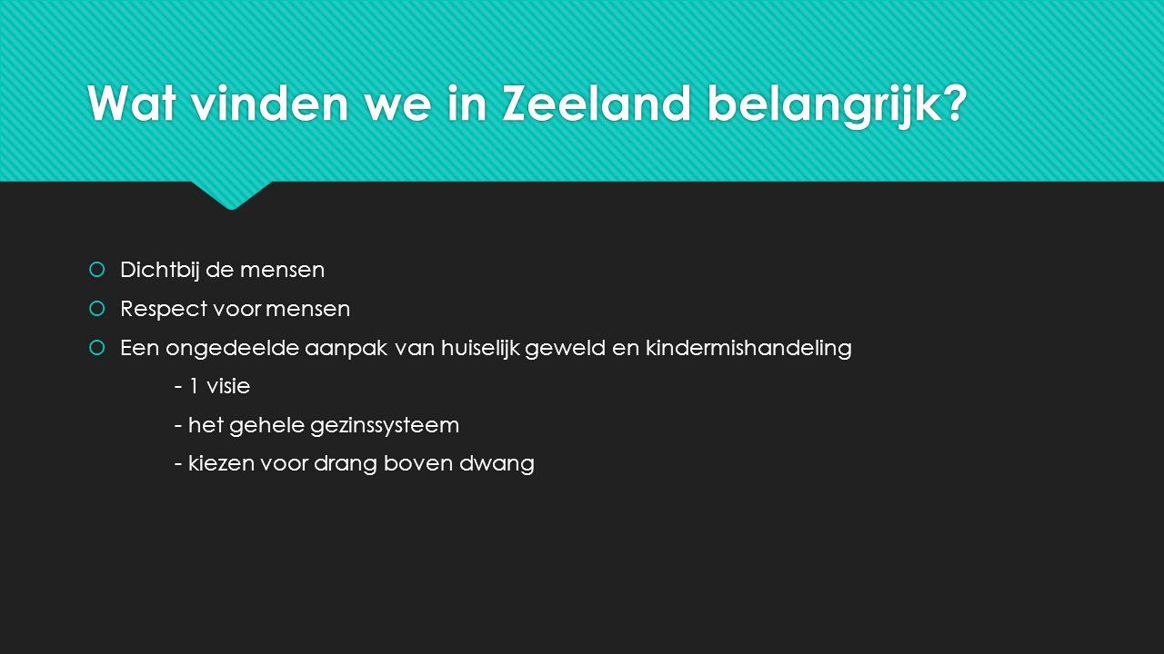 Wat vinden we in Zeeland belangrijk