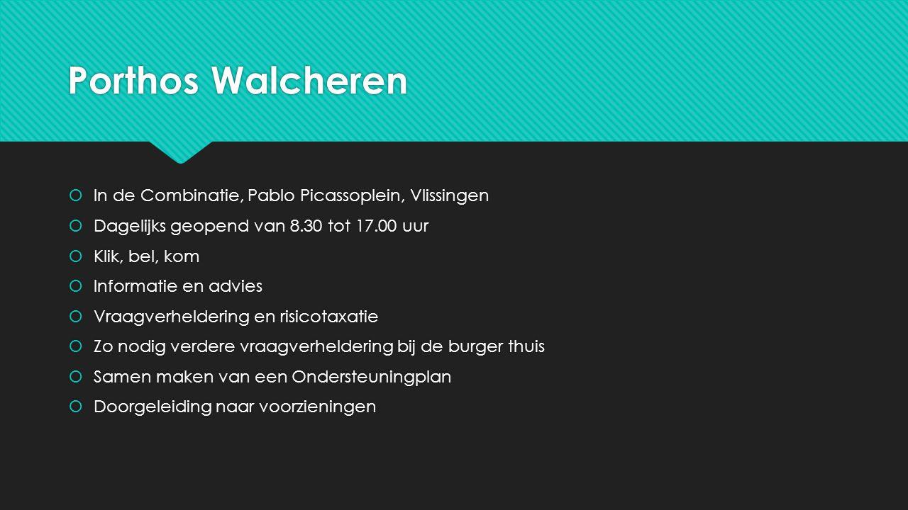 Porthos Walcheren In de Combinatie, Pablo Picassoplein, Vlissingen