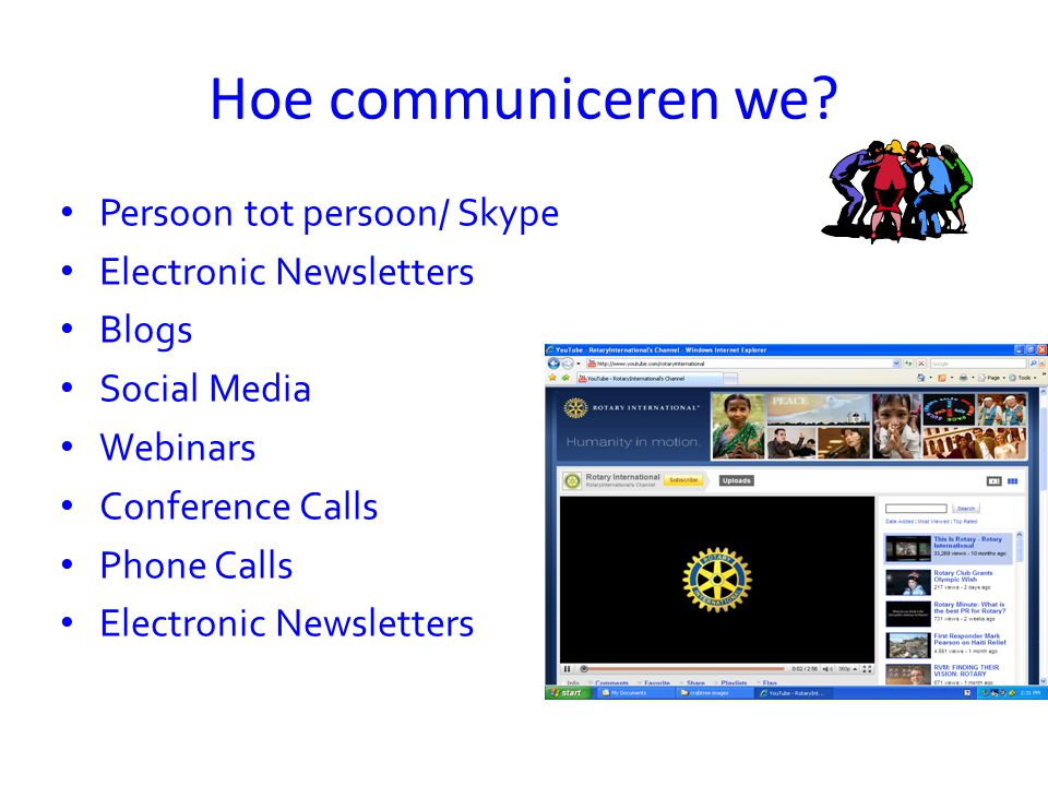 Hoe communiceren we Persoon tot persoon/ Skype Electronic Newsletters