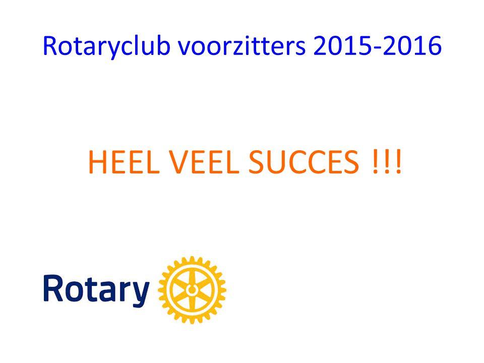 Rotaryclub voorzitters 2015-2016