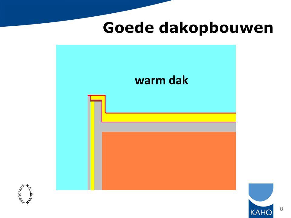 Goede dakopbouwen warm dak