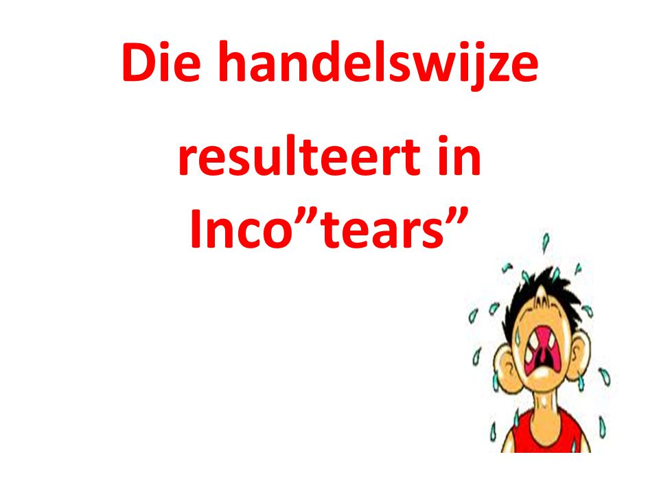 resulteert in Inco tears