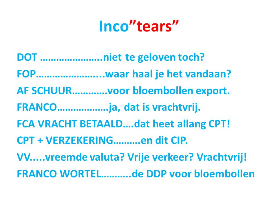 Inco tears