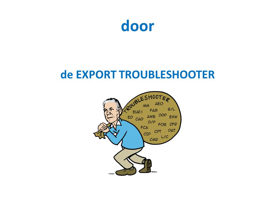 de EXPORT TROUBLESHOOTER