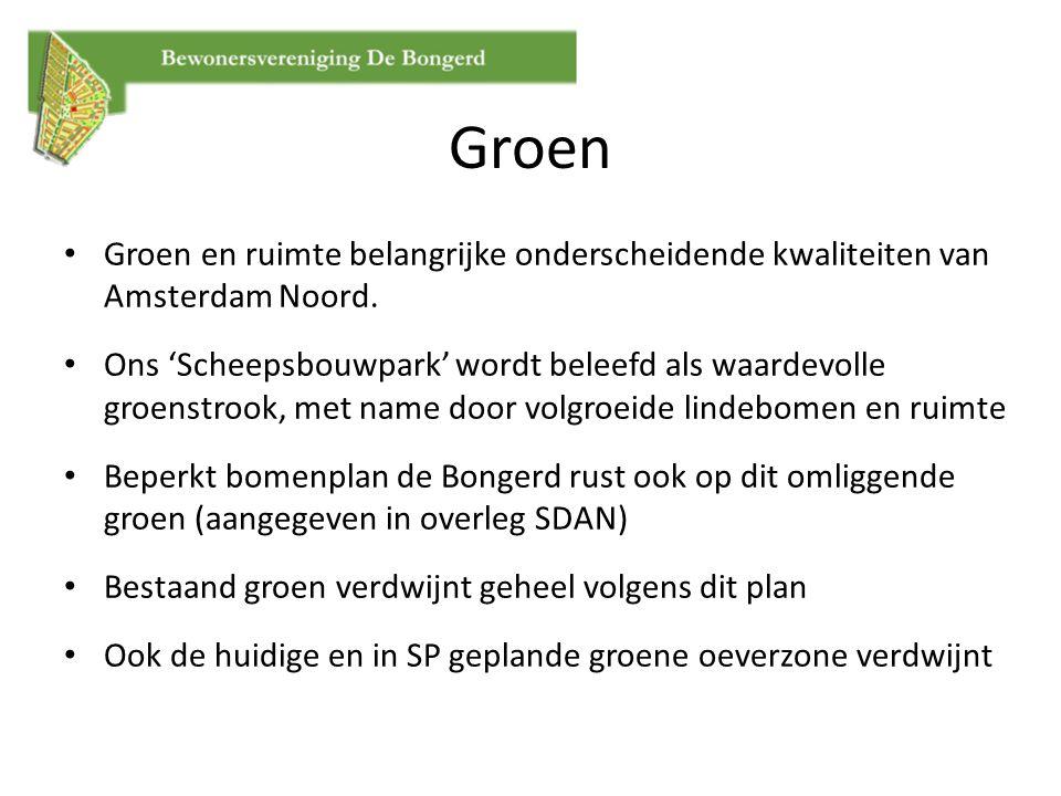 Groen Groen en ruimte belangrijke onderscheidende kwaliteiten van Amsterdam Noord.