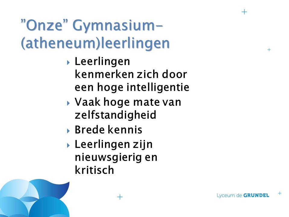 Onze Gymnasium-(atheneum)leerlingen