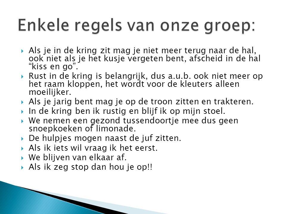 Enkele regels van onze groep: