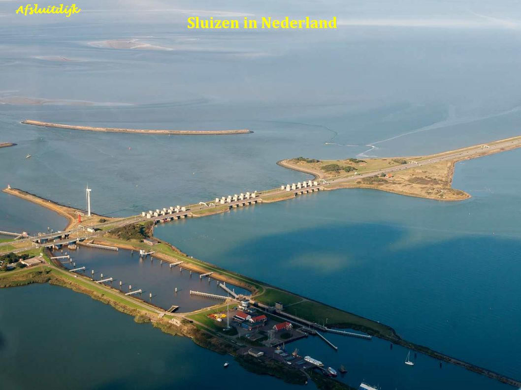 Afsluitdijk Sluizen in Nederland