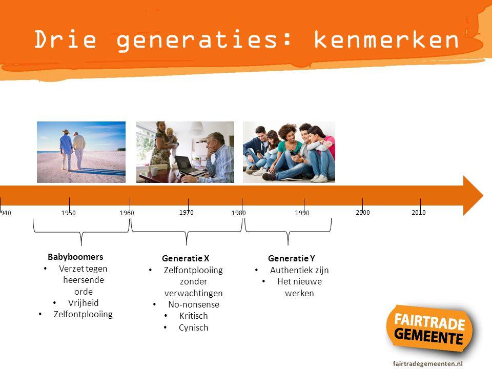 Drie generaties: kenmerken