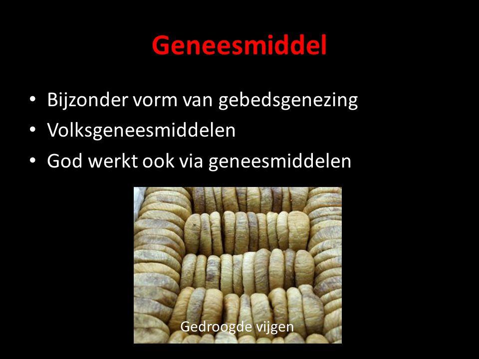 Geneesmiddel Bijzonder vorm van gebedsgenezing Volksgeneesmiddelen
