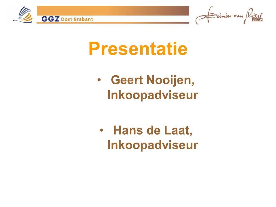 Geert Nooijen, Inkoopadviseur Hans de Laat, Inkoopadviseur
