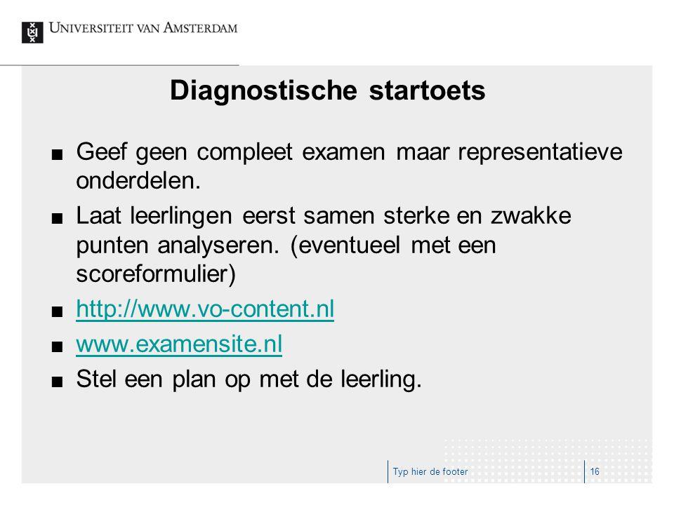 Diagnostische startoets