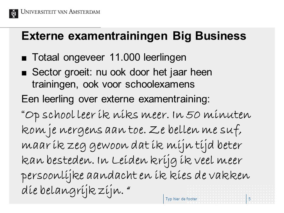 Externe examentrainingen Big Business