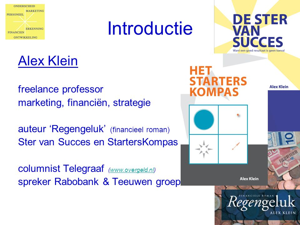 Introductie Alex Klein freelance professor