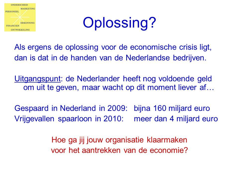 Oplossing Als ergens de oplossing voor de economische crisis ligt,