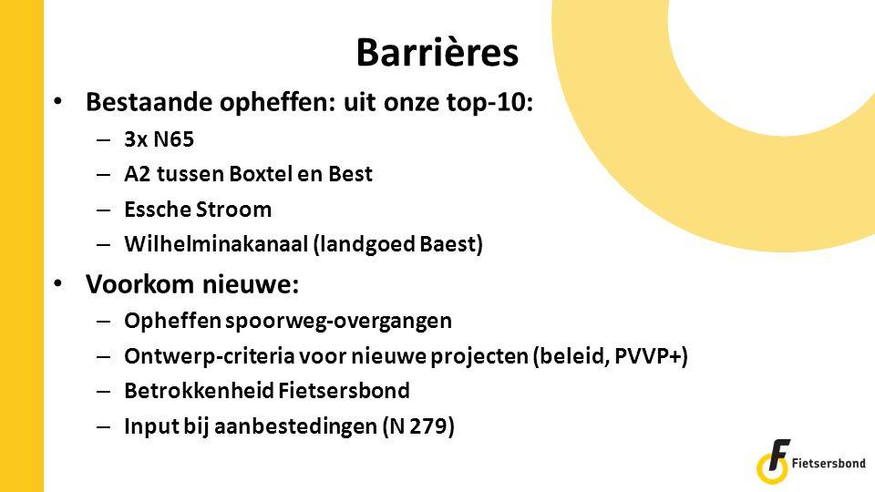 Barrières Bestaande opheffen: uit onze top-10: Voorkom nieuwe: 3x N65