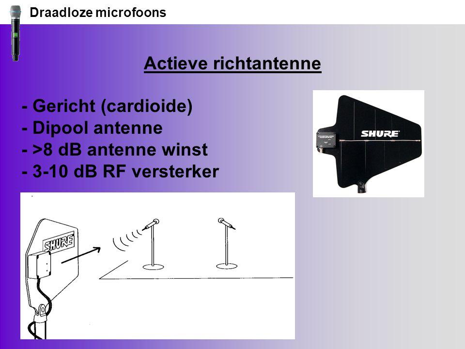 Draadloze microfoons Actieve richtantenne.