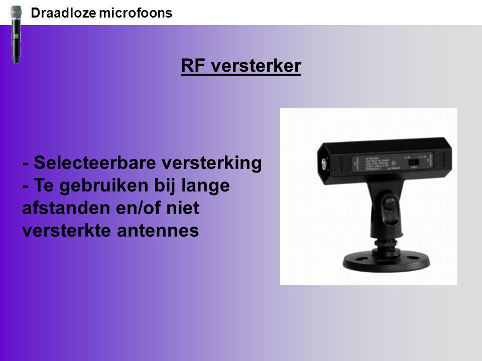 Draadloze microfoons RF versterker.