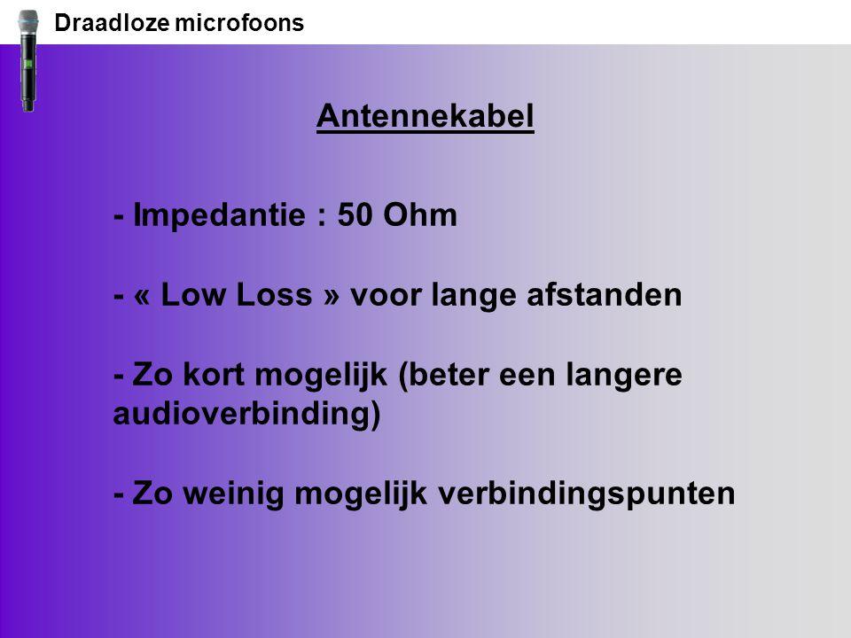 Draadloze microfoons Antennekabel.