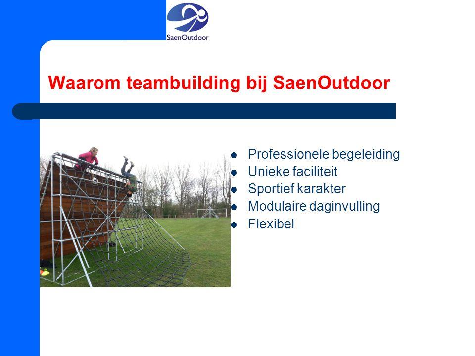 Waarom teambuilding bij SaenOutdoor