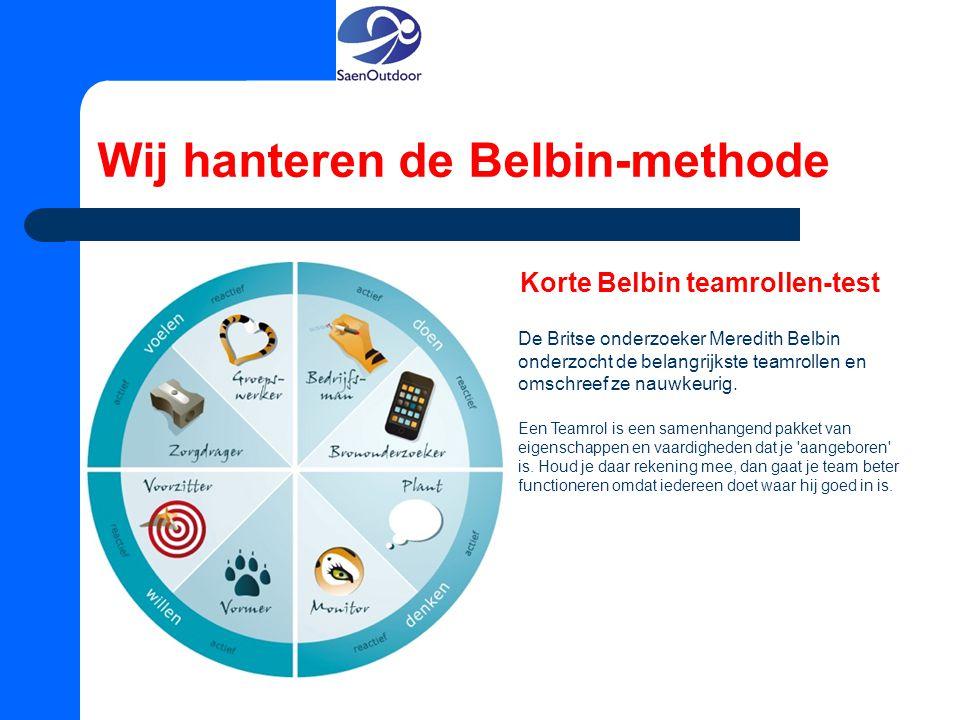 Wij hanteren de Belbin-methode