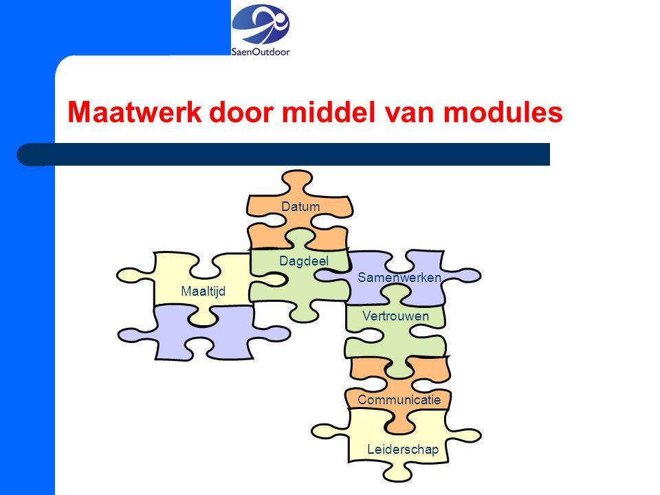 Maatwerk door middel van modules