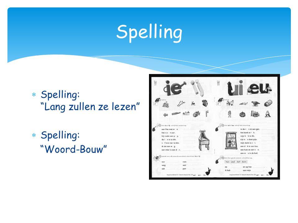 Spelling Spelling: Lang zullen ze lezen Spelling: Woord-Bouw