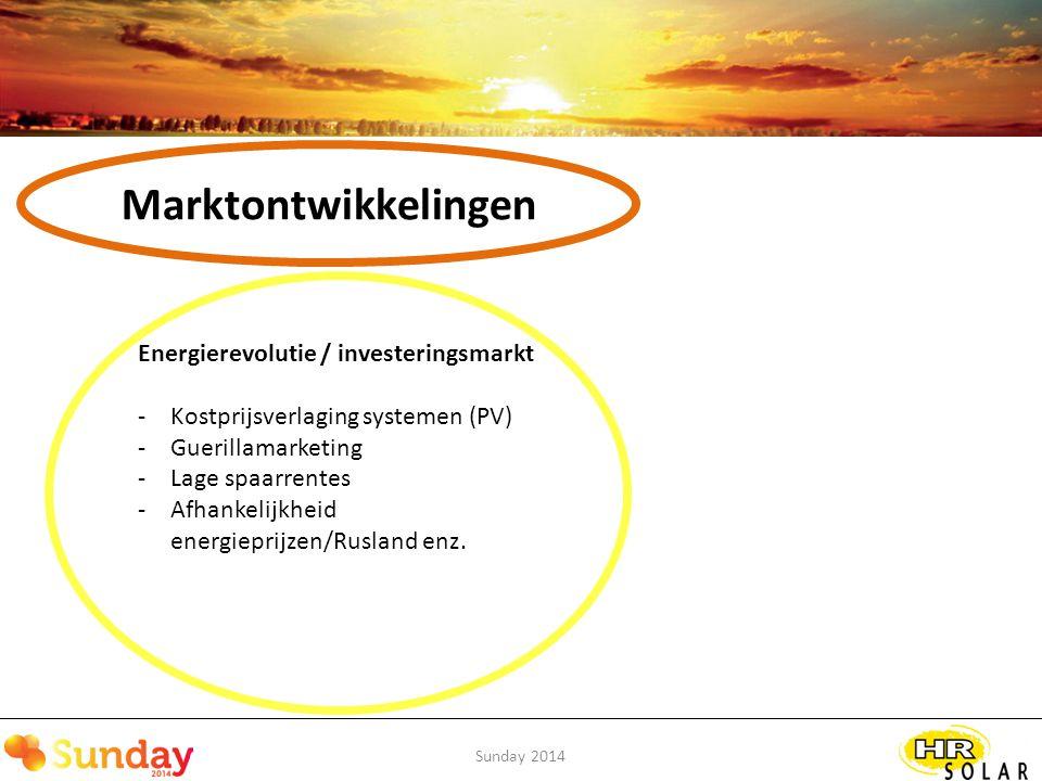Marktontwikkelingen Energierevolutie / investeringsmarkt